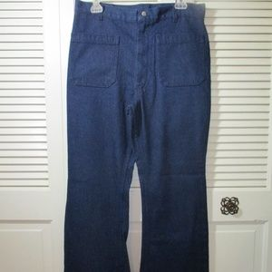 Vtg. Seafarer Navy Sailor Wide Leg Jeans